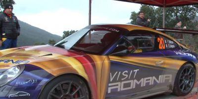 VIDEO Romania, mediatizata la Raliul Monte Carlo pe un superbolid Porsche, condus de un pilot legendar