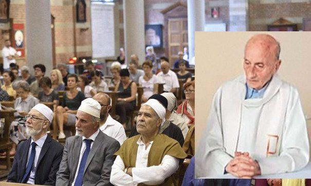 MUSULMANII iau ATITUDINE IMPOTRIVA ISIS. Zeci de persoane au condamnat CRIMA din biserica unde un PREOT a fost decapitat de catre jihadisti, in inima Europei