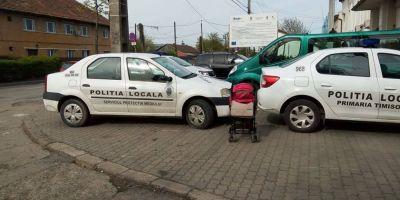 Politia Locala Timisoara i-a amendat pe politistii care au parcat aiurea si au incins spiritele pe Facebook