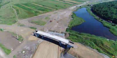 FOTO VIDEO In toamna se va circula pe autostrada de la Aiud la Turda. A fost rezolvat si ultimul obstacol pe lotul 4