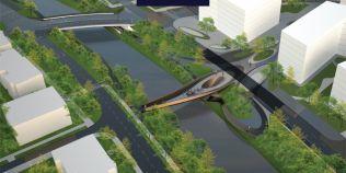 FOTO Proiect futurist la Timisoara. Un nou pod rutier si o pasarela pietonala peste Bega