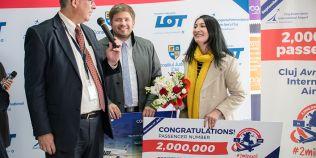 Record pe aeroportul din Cluj: 2 milioane de pasageri. Momentul a fost marcat cu tort si discursuri