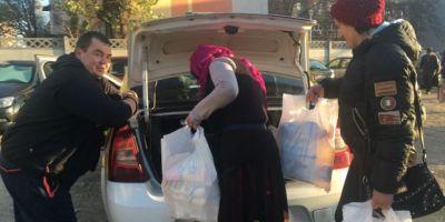 FOTO VIDEO Sarmanii care-si cara acasa ajutoarele sociale cu taxiul: